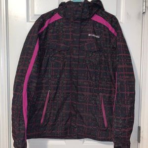 Pink & Black Wind Breaker/Rain Jacket